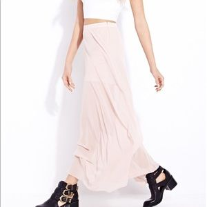 Blush Long Skirt w/ Slit